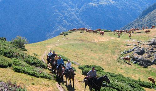 ruta caballo pirineos