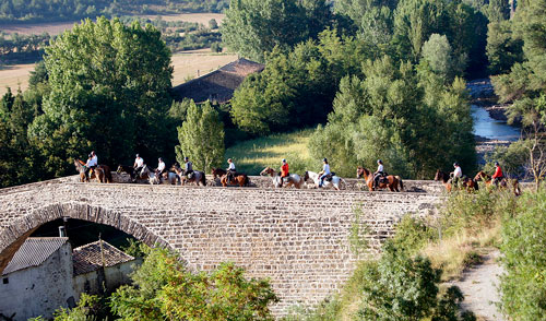 camino santiago a caballo