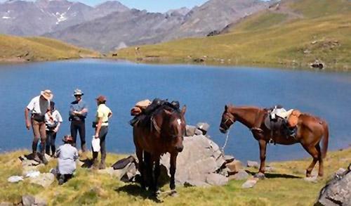 ruta transpirenaica a caballo