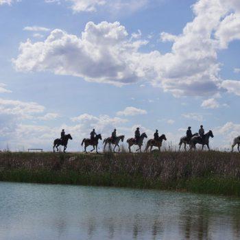 a caballo por el desierto de las bardenas