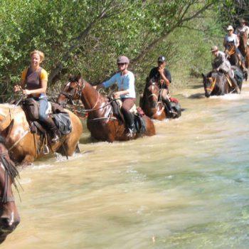 ruta a caballo en la sierra de guara