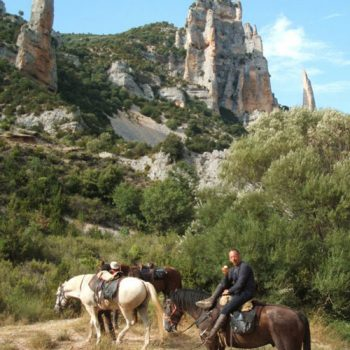 excursiones a caballo en alquezar, huesca
