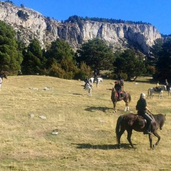 ruta a caballo por el pirineo