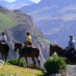 ruta a caballo en el pirineo