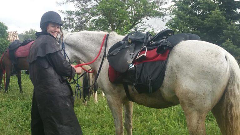 excursion a caballo en el pirineo