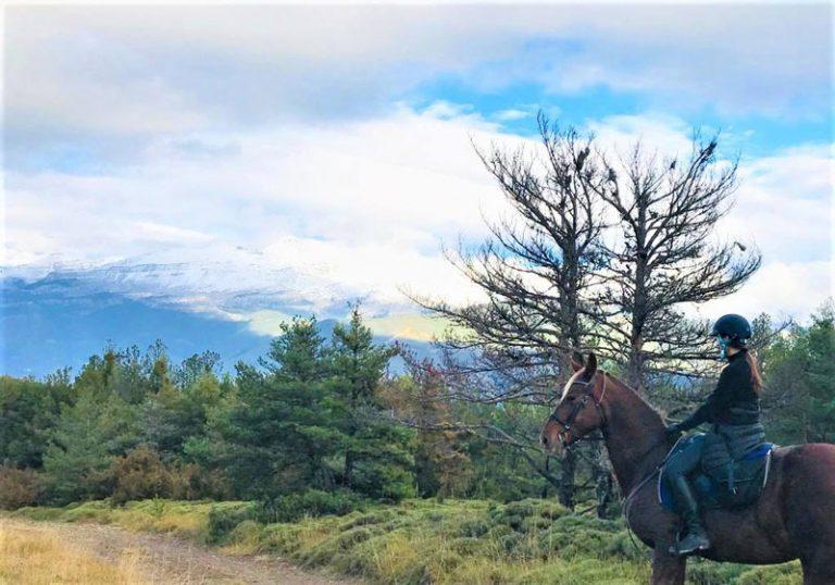 paseos a caballo en otoño en jaca huesca