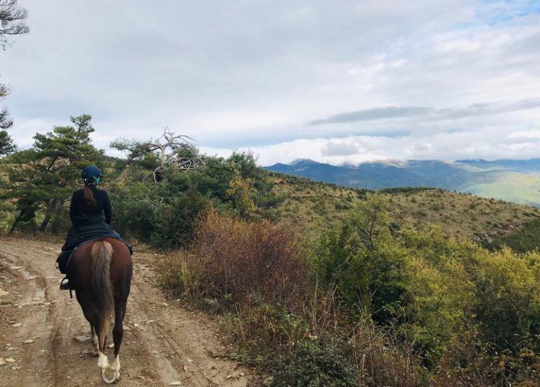 rutas a caballo en jaca pirineos